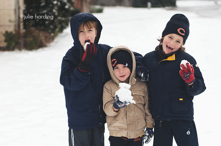 boyssnow snow day in texas - letters to our children