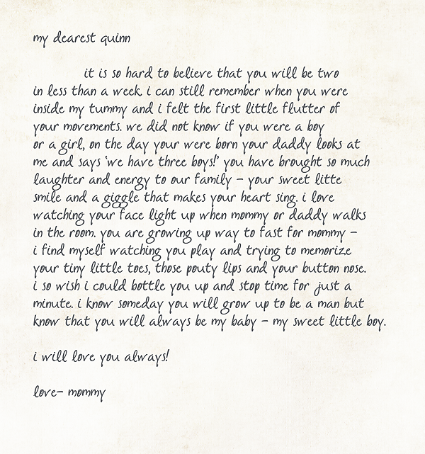 lettertoquinn2 1 - letters to our sons - january · fort worth photographer