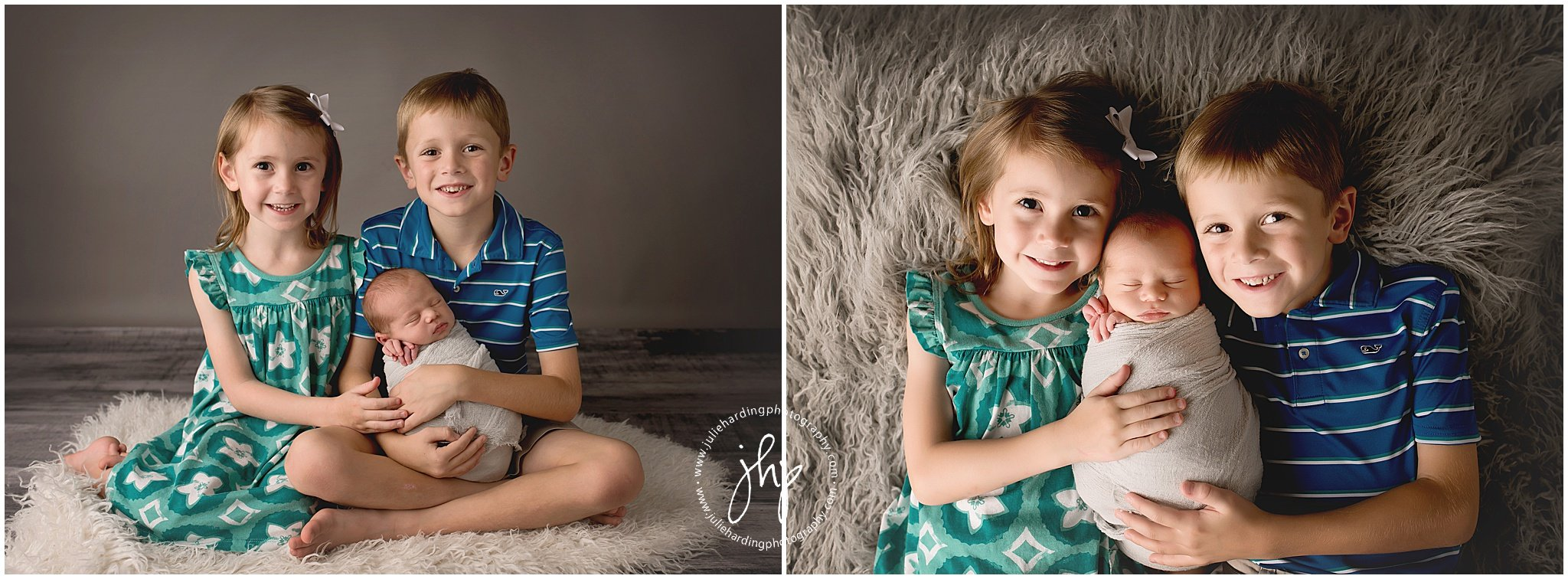Fort Worth Studio Newborn Session with Siblings