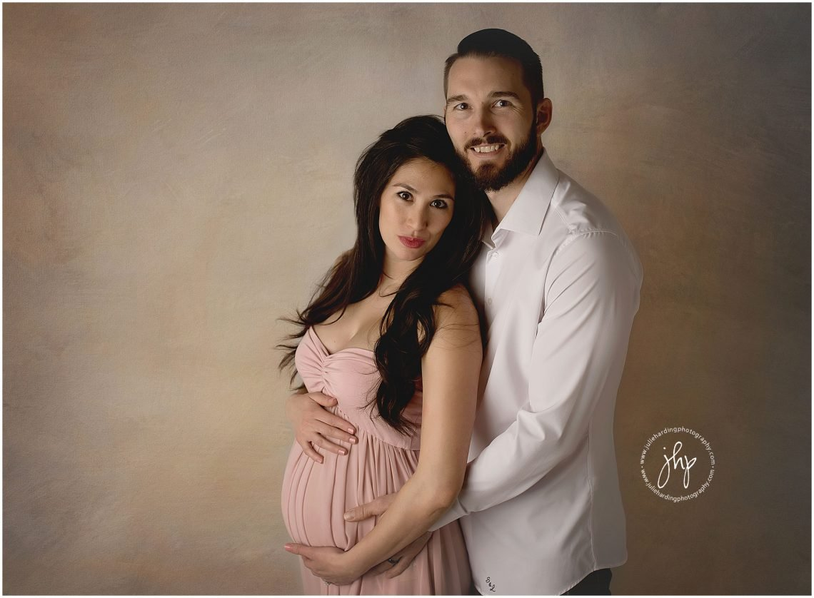 Mom and Dad maternity posing idea