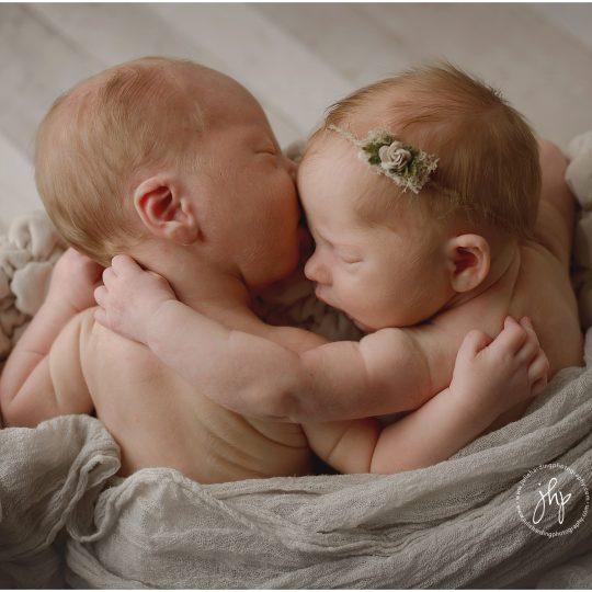 Sweet twin newborns