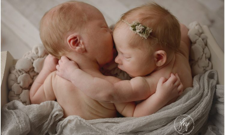 Sweet twin newborns
