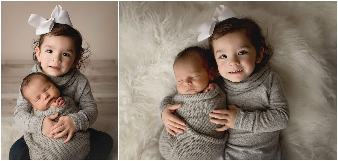 Baby boy and sister