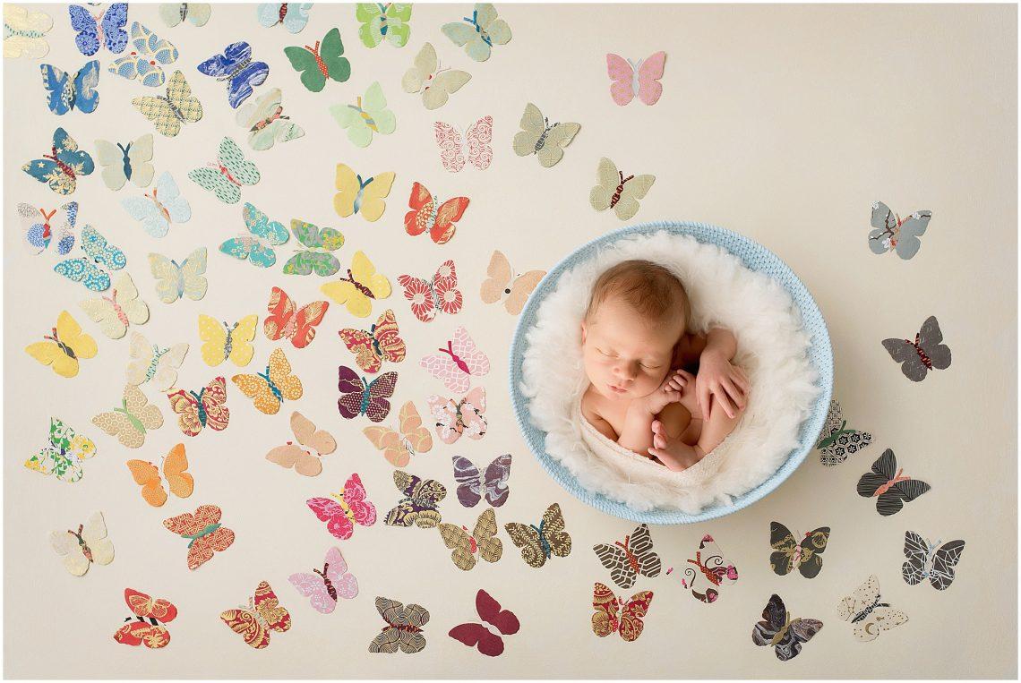 Rainbow baby newborn session